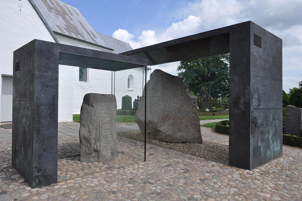 Jelling Rune Stones, Jelling, Denmark