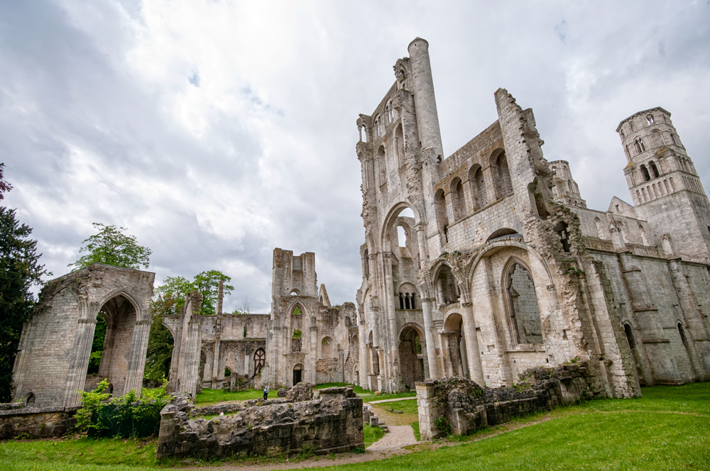 Jumieges Abbey is known as the most beautiful ruin in France