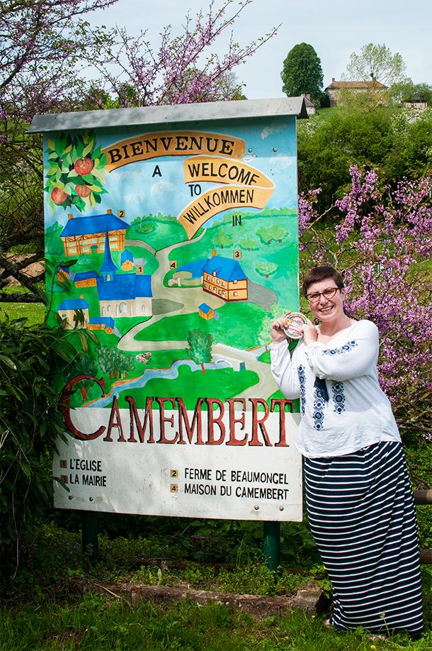 Visiting Camembert, France