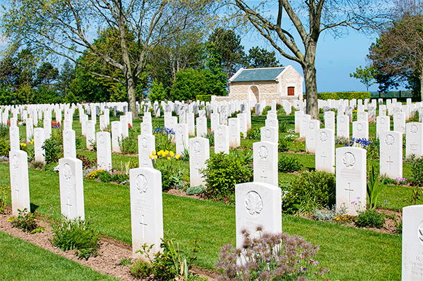 Canadian War Cemetery at Reviers, France