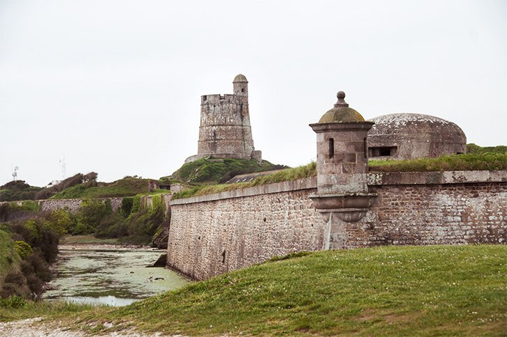 Fort de la Hougue, Normandy, France - one of the UNESCO-listed Vauban forts.