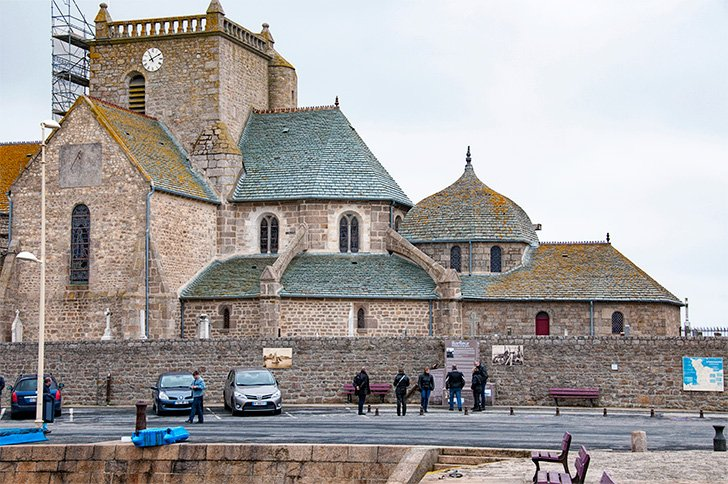 Barfleur's pretty church, in Normandy, France