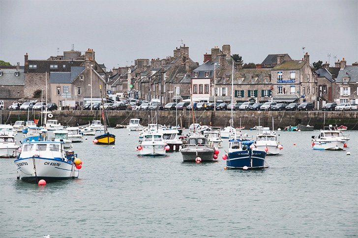 Boats in Barfleur Harbour, Normandy, France