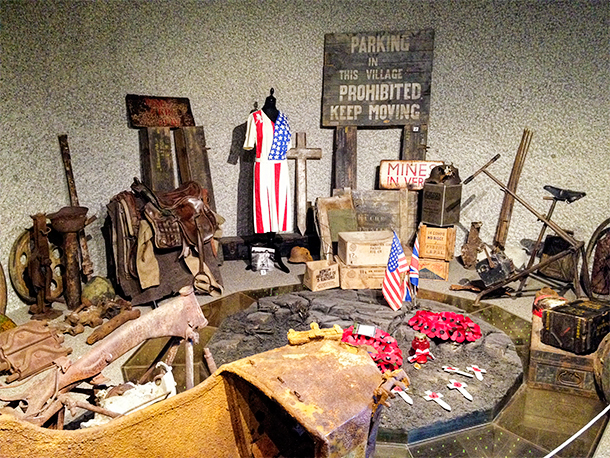 Inside the Montormel Museum, Normandy, France