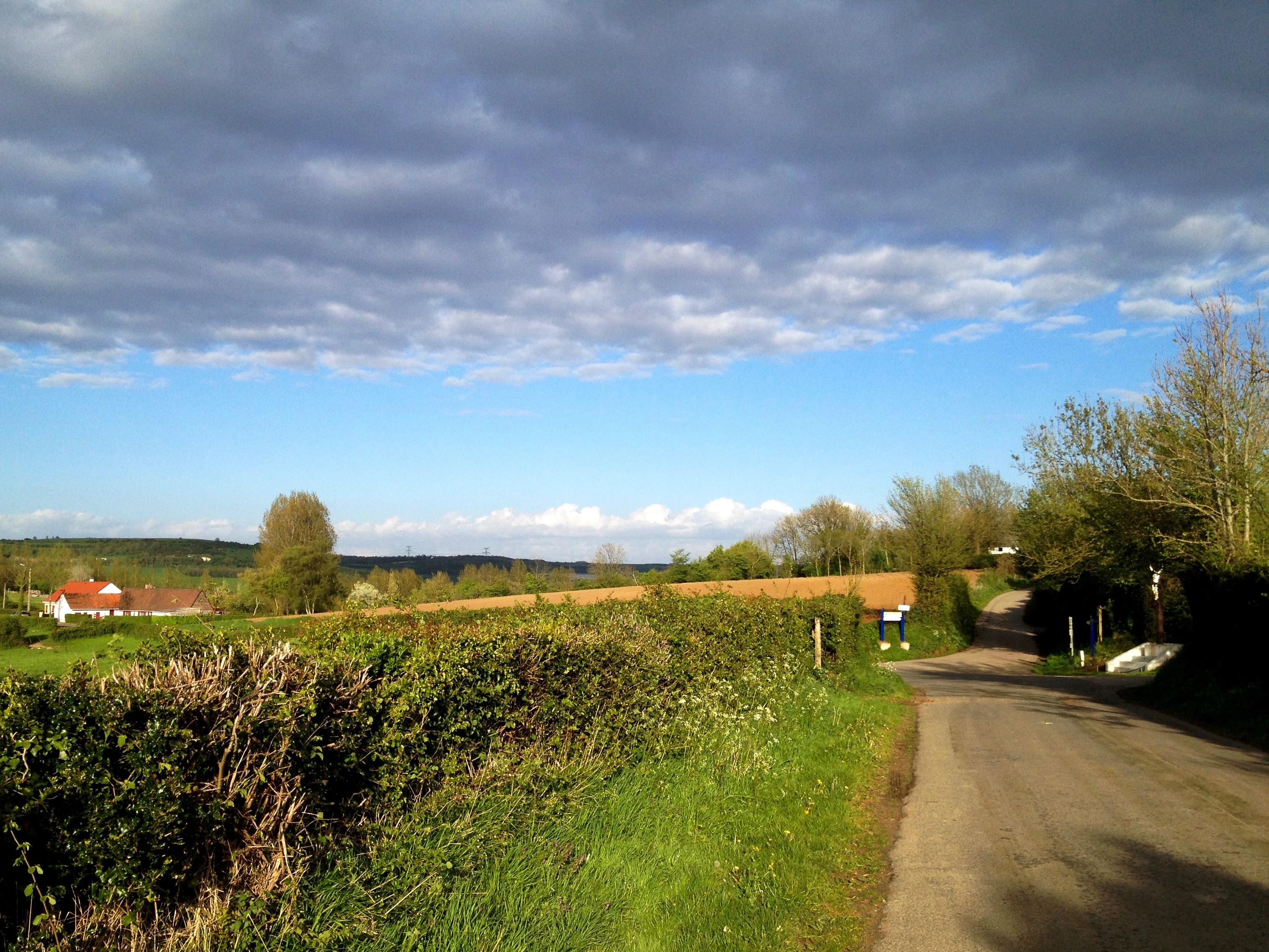 The road to Brunembert, Pas-de-Calais, France