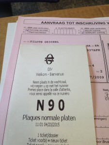 Belgium Motorhome Registration