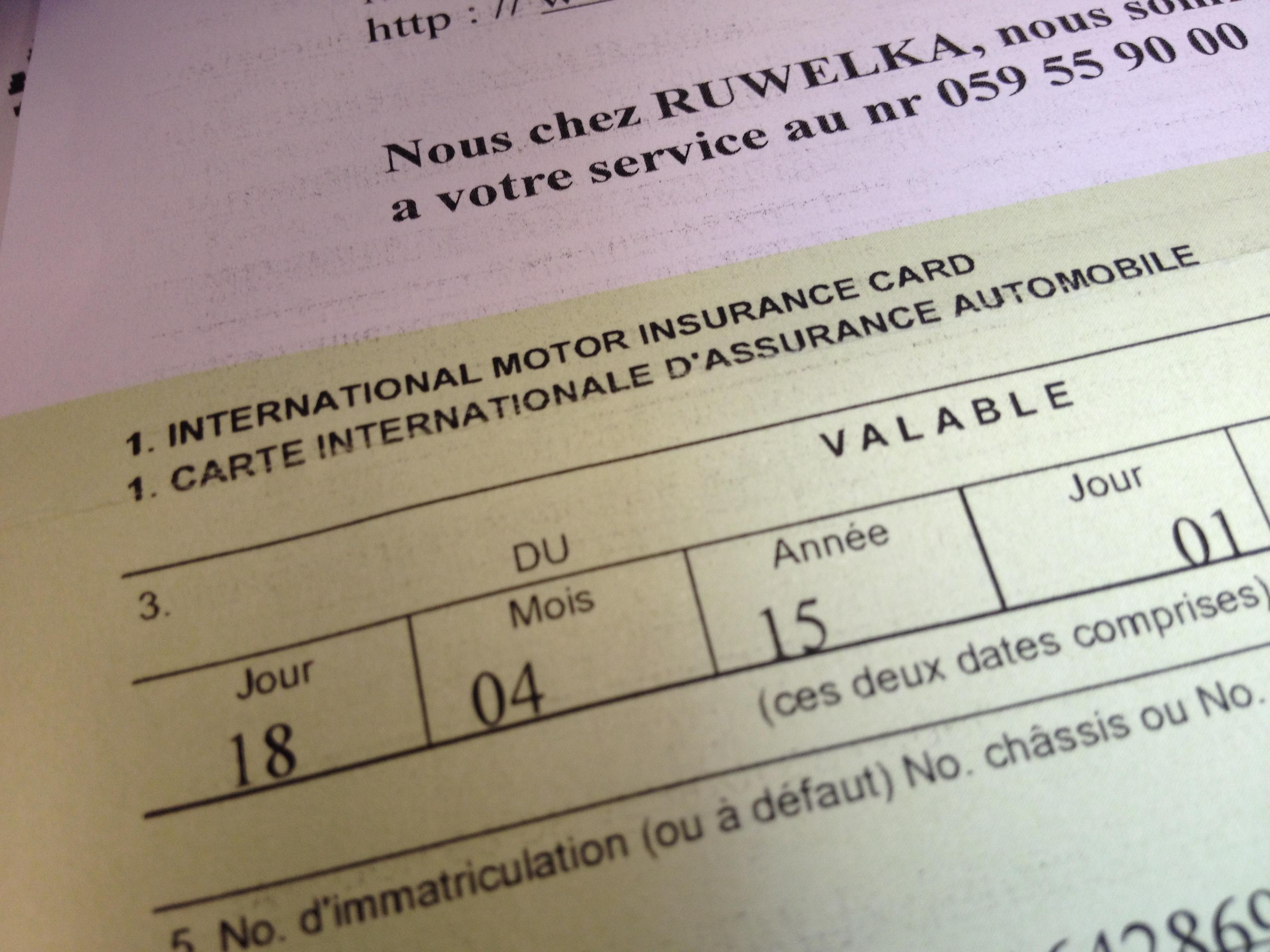 Temporary Insurance Card