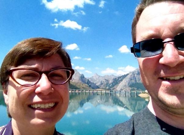 Andrew & Alison in the Picos de Europa, Spain.
