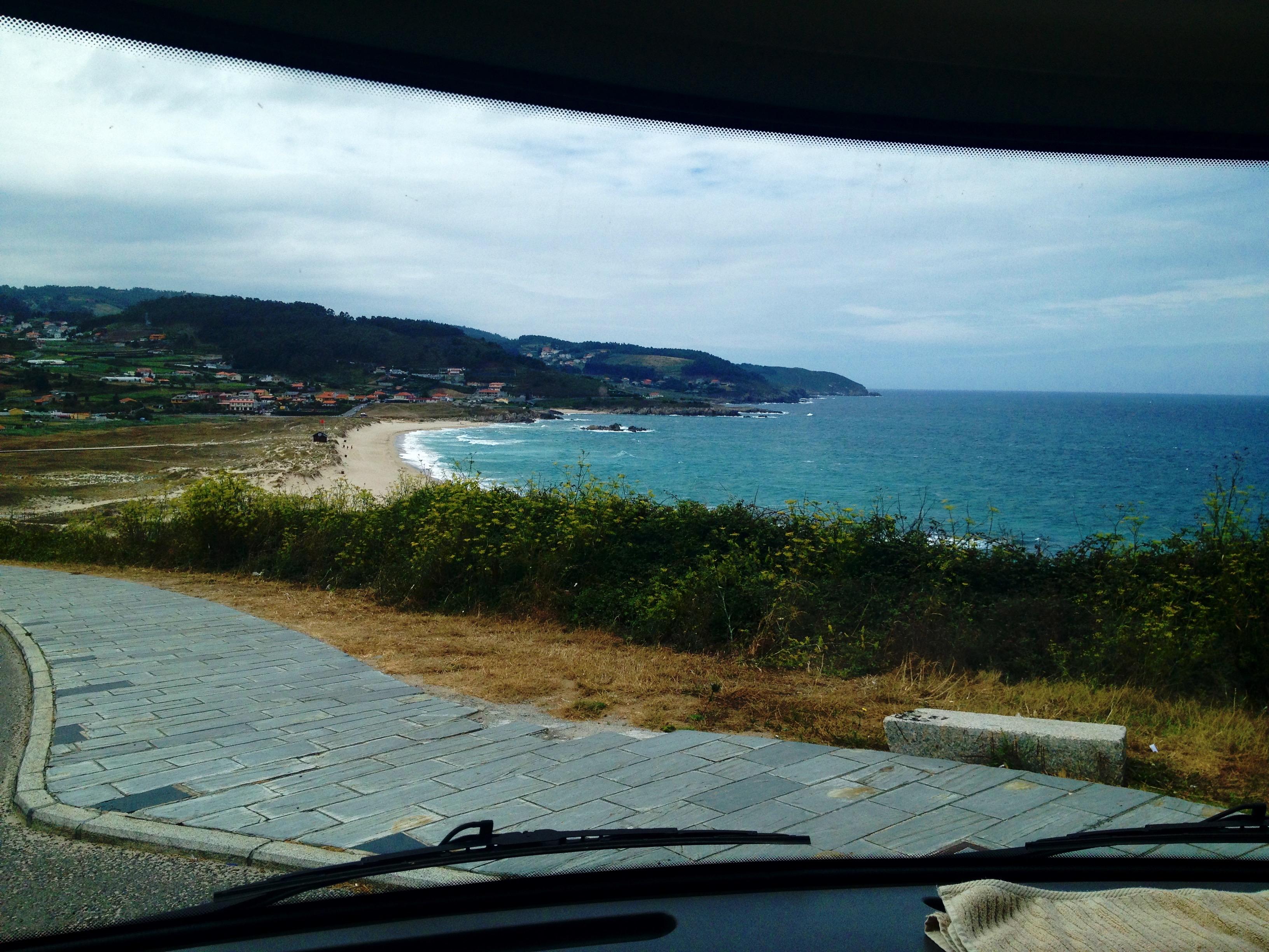 Overlooking the beach near Arteixo, Galicia, Spain.