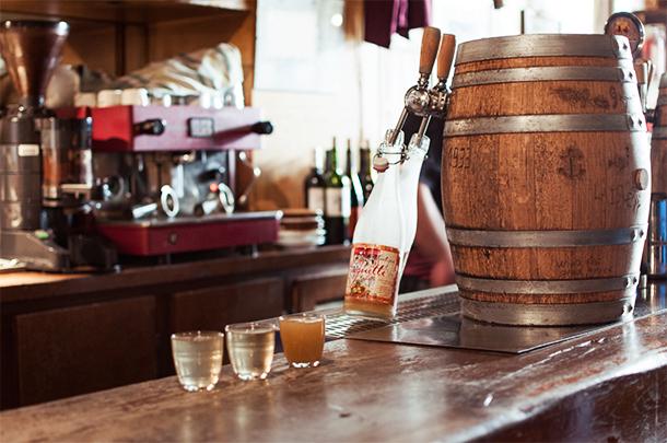 Drinks at La Guignette, La Rochelle, France