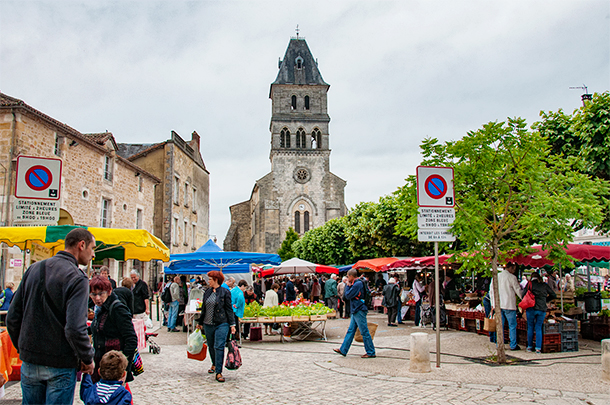 Weekly Market at Thiviers, Dordogne, France