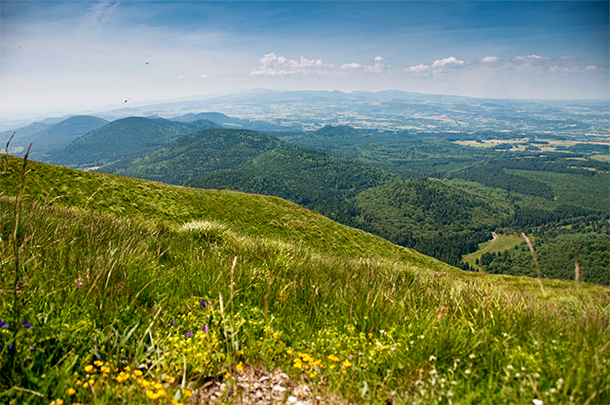 The view from Puy de Dome, Auvergne, France