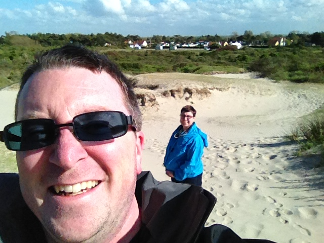 Hiking the dunes in Cayeux-sur-Mer