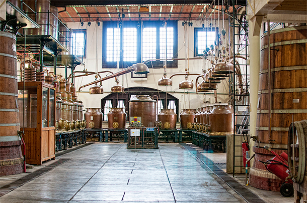 The distillery looks like something straight out of a time capsule and Benedictine is still distilled right here.