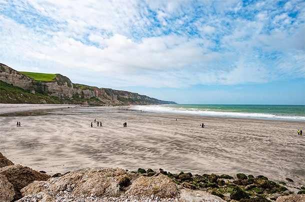The beach we overlooked at Saint-Jouin-Bruneval, Normandy, France