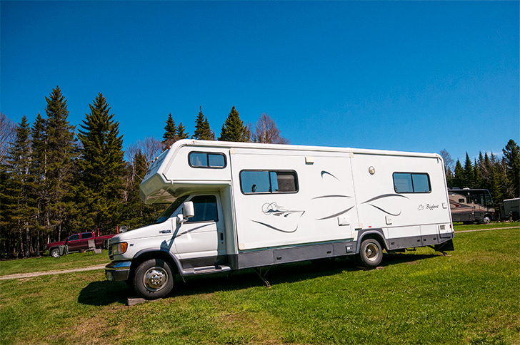 Parked at Armstrong Campground at Mt. Carleton Provincial Park