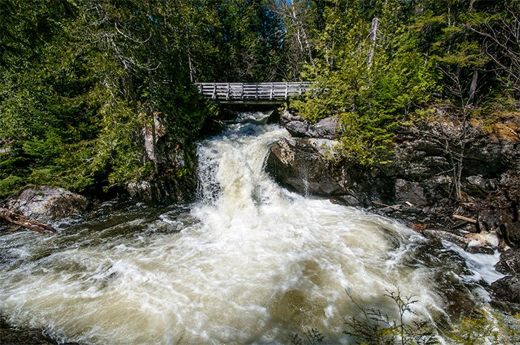 There's plenty of water falling from Williams Falls in Mt. Carleton