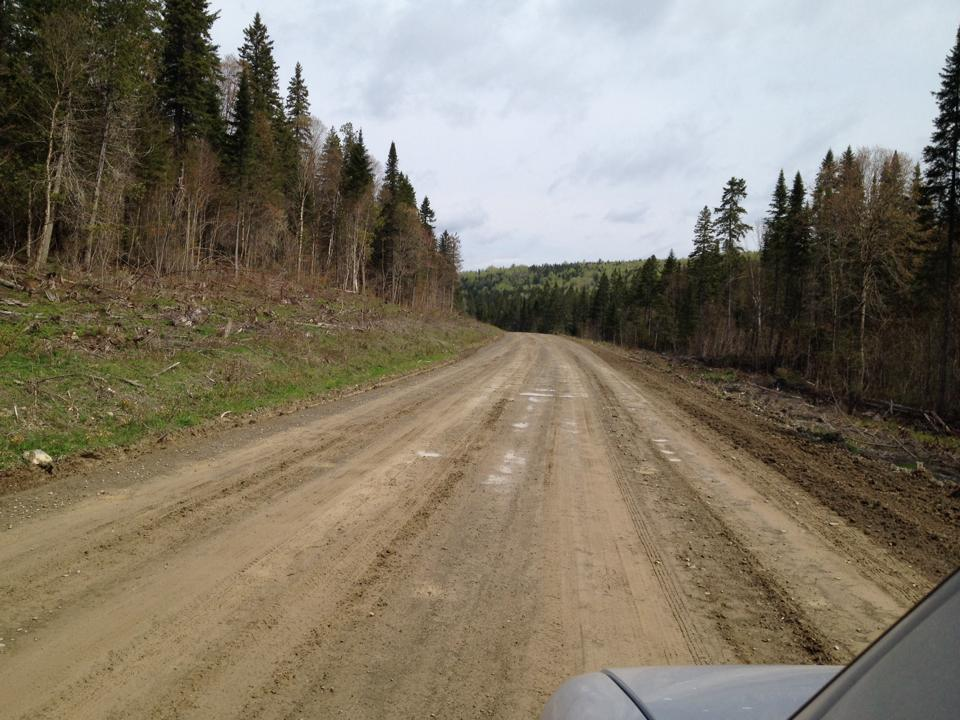 Road from Mt Carleton to Saint Quentin
